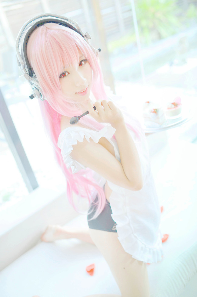 超级索尼子 super sonico cosplay_1